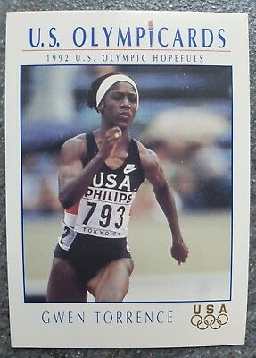 US Olymp Cards Gwen Torrence OS 1992 Nr. 91 Trading Card