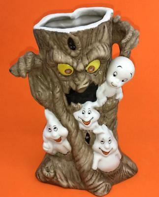 Vintage Casper Friendly Ghost Halloween Tree  Candle Holder Vase Figurine 1986