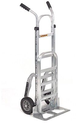 1e3061b3ae3 Aluminum Hand Truck - Double Handle - Mold-On Rubber Wheels 18-in Wide