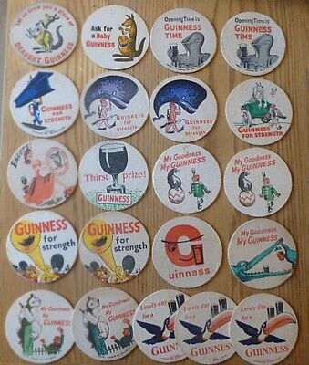 Small Collection of 21 1950's Guinness Beermats