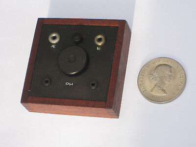 1920's tunable mini crystal radio wireless, smallest in the world(?). Working