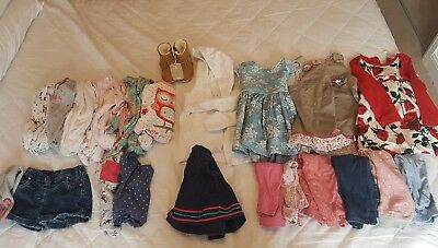Baby girl 9-12 months clothes bundle for winter/spring, 24 items