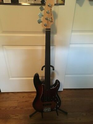 Fender Tony Franklin Precision Fretless Electric Bass Guitar Sunburst