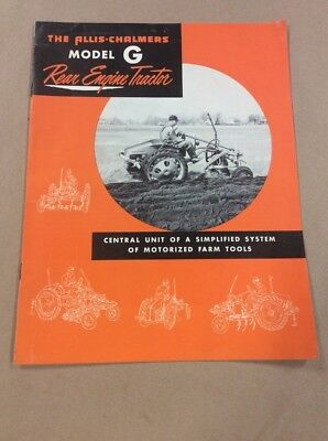 Original Booklet The Allis Chalmers Model G Rear Engine Tractor  INV-P729