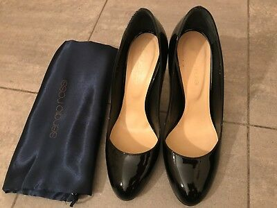 Scarpe decolleté nere vernice SERGIO ROSSI black patent heels shoes EU37 UK4
