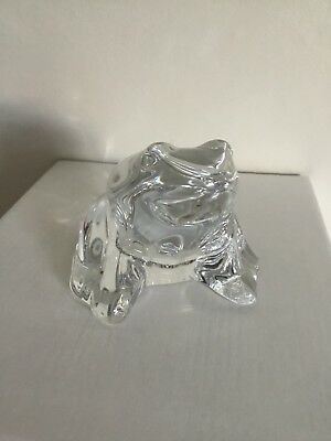 Baccarat Glass Frog Made In France