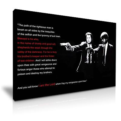 Pulp Fiction Modern Movie Canvas Wall Art Picture Print READY TO HANG DECO SIZE
