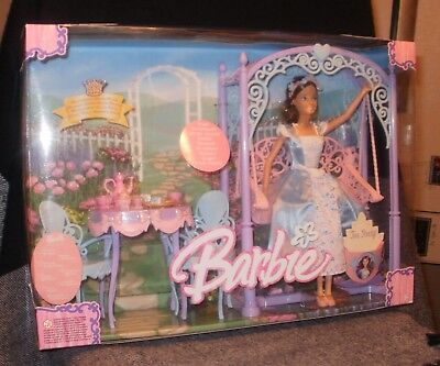 Princess Barbie With Tea Party And Swing - Nrfb