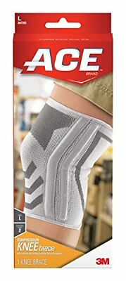 ACE Knitted Knee Brace with Flexible metal Side Stabilizers Large Knee Support