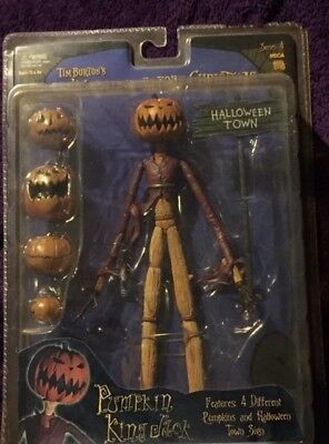 NECA Tim Burton's The Nightmare Before Christmas Series 4 Pumpkin King Jack. MIB