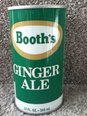 BOOTH'S Ginger Ale Straight steel, pull top. Franks Beverages. Phila.,PA