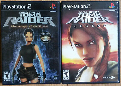 LARA CROFT TOMB RAIDER LEGEND & THE ANGEL OF DARKNESS complete mint PS2 + guide