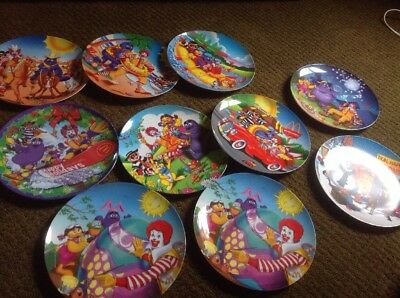 Lot of 10 McDonald's Assorted Collectible Plates 1998-2004 Set Melamine