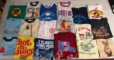 Lot Of 71 Vintage T Shirts Vtg Tees 70S 80S 90S Novelty Hipster Youth Sizes Kids