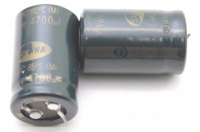 ELECTROLYTIC CAPACITOR SAMWHA 4700uF 63V NOS (NEW OLD STOCK) 1PC. CA307U1F300617