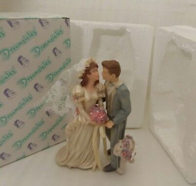 """Dreamsicles """"The Happy Couple"""" Bride Groom 97 Signed Kristin Retired Cake Topper"""