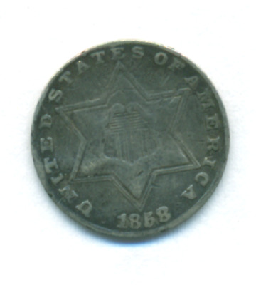 1858 Three Cent Silver