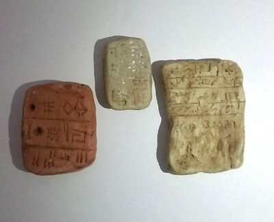 lot of 3 copy Cuneiform CLAY  tablet   Reproduction