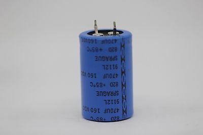 Electrolytic Capacitor Sprague 470Uf 160V Nos (New Old Stock) 1Pc. Ca1U1F270917