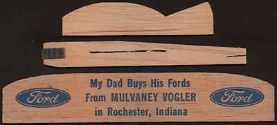 1950's Ford Balsa Wood Glider Airplane Advertising Giveaway
