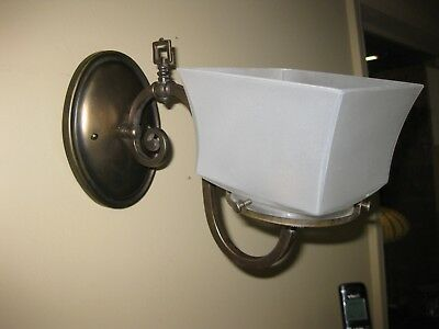 Antique 1910 Mission Style Gas Sconce Electrified