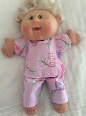 """DOLLS CLOTHES made to fit 14"""" CABBAGE PATCH DOLL - Pyjamas Pink. ~. Owls"""