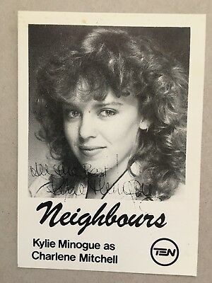 AUSTRALIAN TV FAN CARD NEIGHBOURS  KYLIE MINOGUE 9x14cm