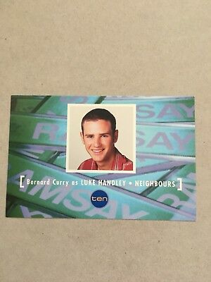 AUSTRALIAN TV FAN CARD NEIGHBOURS  BERNARD CURRY 15x10cm