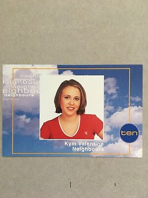 AUSTRALIAN TV FAN CARD NEIGHBOURS  KYM VALENTINE 15x10cm
