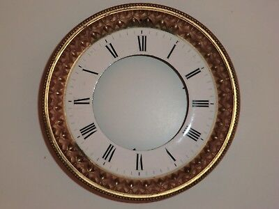 DIAL and DOOR FROM A MARBLE MANTLE CLOCK 18cms NO GLASS