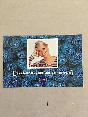 AUSTRALIAN TV FAN CARD NEIGHBOURS EMMA HARRISON  15x10cm