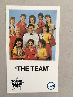 AUSTRALIAN TV FAN CARD YOUNG TALENT TIME CAST 9x14cm