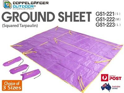 DOPPELGANGER OUTDOOR Ground Sheet Tarp Tent Protector Camping Picnic 2.8 x 2.2M