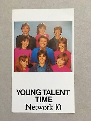 AUSTRALIAN TV FAN CARD YOUNG TALENT TIME CAST 9x15cm