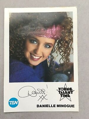 AUSTRALIAN TV FAN CARD YOUNG TALENT TIME DANIELLE MINOGUE 9x14cm