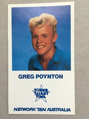 AUSTRALIAN TV FAN CARD YOUNG TALENT TIME GREG POYNTON 9x15cm