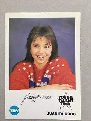 AUSTRALIAN TV FAN CARD YOUNG TALENT TIME JUANITA COCO 9x14cm