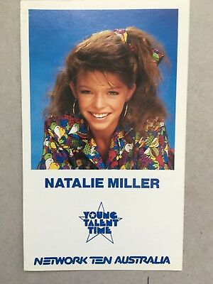 AUSTRALIAN TV FAN CARD YOUNG TALENT TIME NATALIE  MILLER 9x15cm