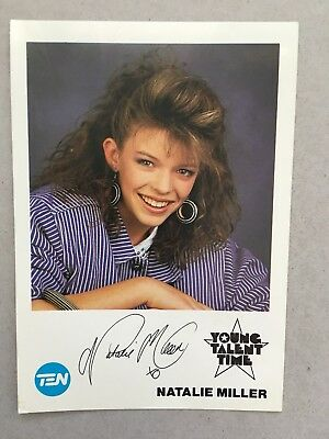 AUSTRALIAN TV FAN CARD YOUNG TALENT TIME NATALIE  MILLER 9x14cm
