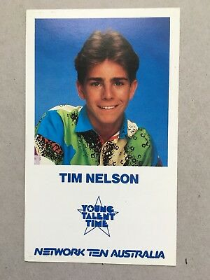AUSTRALIAN TV FAN CARD YOUNG TALENT TIME TIM NELSON 9x15cm