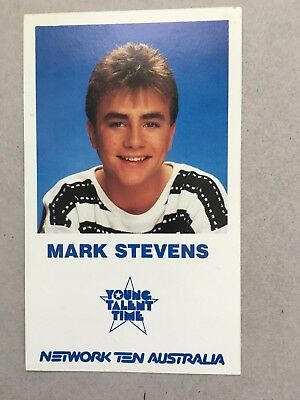 AUSTRALIAN TV FAN CARD YOUNG TALENT TIME MARK STEVENS 9x15cm