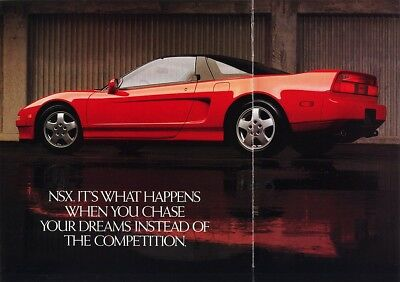 1990 Acura NSX 12-Page Dealer Sales Brochure