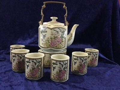 Japanese Tea Set With Warmer - Vintage- Late 20th Century
