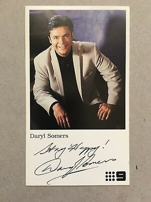 AUSTRALIAN TV FAN CARD HEY HEY ITS SATURDAY DARYL SOMERS  8x14cm