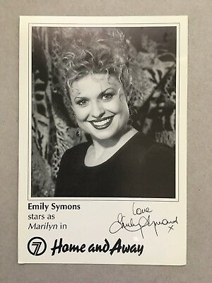AUSTRALIAN TV FAN CARD HOME AND AWAY EMILY SYMONS  11 X16cm