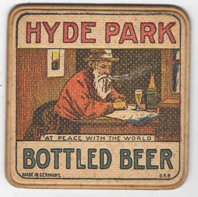 Pre-Pro Hyde Park Beer Coaster, Hyde Park Breweries Assoc., Inc., St Louis, MO