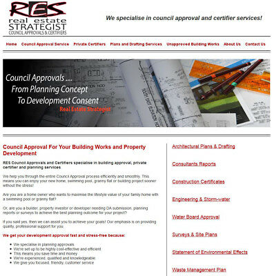 Website With Council & Certifier Approvals Services- For Sale