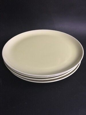 Vintage Russel Wright Yellow Dinner Plates ~ LOT OF 4
