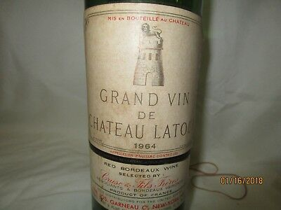 1964 Grand Vin De Chateau Latour Empty Bottle