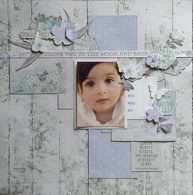 handmade premade scrapbook page layout 12 X 12 - Simply the Best